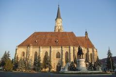 Cluj Napoca, central fyrkant royaltyfria bilder