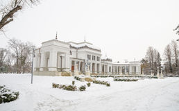 Cluj Napoca Central Park baroque Casino on a winter day in Transylvania Royalty Free Stock Photos