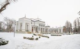 Cluj Napoca Central Park baroque Casino on a winter day in Transylvania Royalty Free Stock Photos