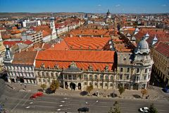 Cluj-Napoca city. A main street in Cluj-Napoca city, Romania Royalty Free Stock Photography