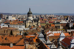 Cluj - Napoca City from above Stock Images