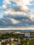 Cluj Napoca city as seen from Cetatuia Hill near by Stock Photo