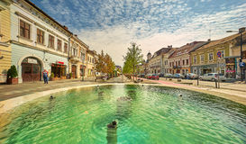 Cluj-Napoca City Center. Cluj-Napoca, RO, Aug 2015: City center Stock Photos