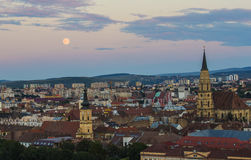 Cluj Napoca City at dusk Royalty Free Stock Photography
