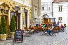 Cluj-Napoca city. A main street in Cluj-Napoca city, Romania Stock Photo