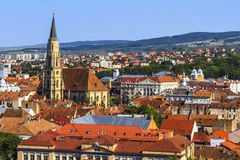 Cluj-Napoca city. Overview of Cluj-Napoca city, Romania Stock Photos