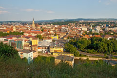 Cluj Napoca city in Romania. Panorama of Romanian city Cluj Napoca Royalty Free Stock Photo