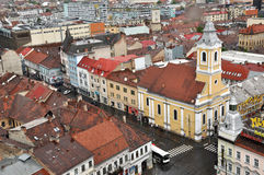 Cluj Napoca city top view. Romania Royalty Free Stock Images
