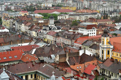 Cluj Napoca city top view. Romania Royalty Free Stock Photography