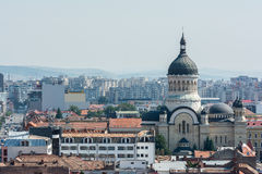 Cluj Napoca City View. High View Of Cluj Napoca City In Romania Royalty Free Stock Photo