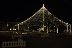 Christmas Decorations in in the Unirii Square, Transylvania, Romania Cluj-Napoca royalty free stock photography