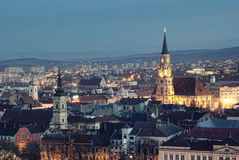 Cluj Napoca at dusk Stock Images