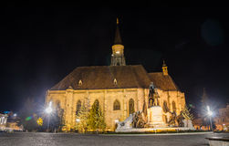 Cluj Napoca gothic cathedral St. Michael in Unirii Square Royalty Free Stock Image