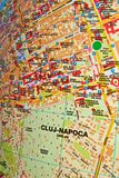Cluj-Napoca map Stock Photography