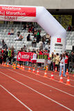 Cluj-Napoca marathon finish line Royalty Free Stock Photo