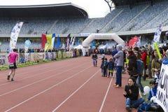 Cluj-Napoca marathon finish line Stock Photo