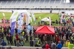 Cluj-Napoca marathon finish line Stock Photography