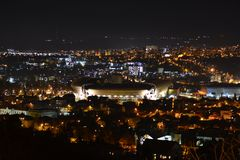 Cluj-Napoca Night landscape. Romania, Cluj-Napoca, Night landscape, beautiful city royalty free stock photography