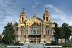 Cluj Napoca opera, Rumänien, Maj 2018 arkivfoto