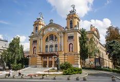 Cluj Napoca operahus arkivbilder
