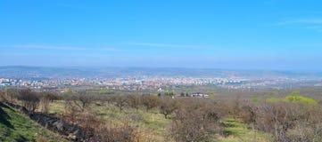 Cluj Napoca panorama Arkivfoton