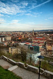 Cluj Napoca. Panorama of Cluj Napoca city with the most important landmarks Stock Image