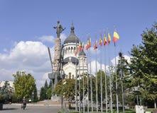 Cluj-Napoca RO, 24 September: Avram Iancu Monument in cluj-Napoca van het gebied van Transsylvanië in Roemenië Royalty-vrije Stock Afbeelding