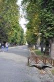 Cluj-Napoca RO, 24 September: Central Park Hoofdsteeg in cluj-Napoca van het gebied van Transsylvanië in Roemenië Stock Foto's