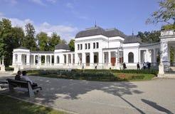 Cluj-Napoca RO, 24 September: De Bouw van het Central Parkcasino in cluj-Napoca van het gebied van Transsylvanië in Roemenië Royalty-vrije Stock Afbeeldingen