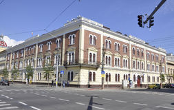 Cluj-Napoca RO, 24 September: De Bouw van het financiënpaleis in cluj-Napoca van het gebied van Transsylvanië in Roemenië Royalty-vrije Stock Fotografie
