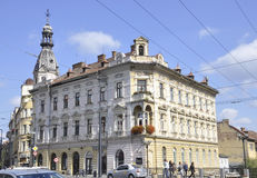 Cluj-Napoca RO, 24 September: De historische Bouw in cluj-Napoca van het gebied van Transsylvanië in Roemenië Royalty-vrije Stock Afbeeldingen
