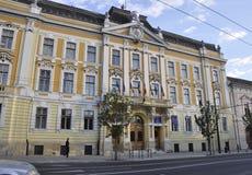 Cluj-Napoca RO, 24 September: Hall Building in cluj-Napoca van het gebied van Transsylvanië in Roemenië Royalty-vrije Stock Fotografie