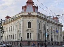 Cluj-Napoca RO, 24 September: Historische de Bouwdetails in cluj-Napoca van het gebied van Transsylvanië in Roemenië Royalty-vrije Stock Afbeeldingen