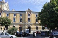 Cluj-Napoca RO, 24 September: Nationaal Theater Lucian Blaga in cluj-Napoca van het gebied van Transsylvanië in Roemenië Stock Foto