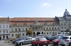Cluj-Napoca RO, September 24th: Banffy slottbyggnad i Cluj-Napoca från den Transylvania regionen i Rumänien Royaltyfri Fotografi