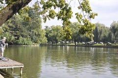 Cluj-Napoca RO, September 24th: Central Park Chios Lake in Cluj-Napoca from Transylvania region in Romania Royalty Free Stock Photo