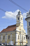 Cluj-Napoca RO, September 23th: Church Lutheran Evanghelique from Downtown of Cluj-Napoca from Transylvania region in Romania Stock Photo