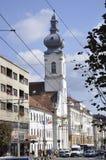 Cluj-Napoca RO, September 23th: Church Unitarian from Downtown of Cluj-Napoca from Transylvania region in Romania Royalty Free Stock Photo