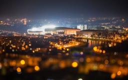 CLUJ NAPOCA, ROEMENIË - 27 FEBRUARI: ROEMENIË - SPANJE, vriendschappelijke gelijke Royalty-vrije Stock Foto