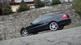 Cluj Napoca/Romênia 7 de abril de 2017: Cupê de Mercedes Benz W209 - ano 2005, equipamento da elegância, rodas de 19 polegadas, o Foto de Stock Royalty Free