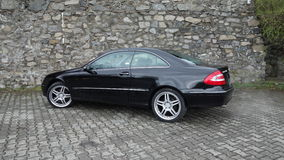 Cluj Napoca/Romania-April 7, 2017: Mercedes Benz W209 Coupe - year 2005, Elegance equipment, 19 inch wheels, profile view Stock Photography