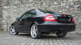 Cluj Napoca/Romania-April 7, 2017: Mercedes Benz W209 Coupe - year 2005, Elegance equipment, 19 inch wheels, profile view Stock Photos
