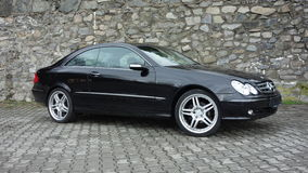 Cluj Napoca/Romania-April 7, 2017: Mercedes Benz W209 Coupe - year 2005, Elegance equipment, 19 inch wheels, profile view Royalty Free Stock Image