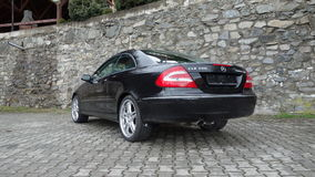 Cluj Napoca/Romania-April 7, 2017: Mercedes Benz W209 Coupe - year 2005, Elegance equipment, 19 inch wheels, profile view Stock Photo