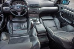 Bavarian well equiped car with elegant and luxurious interior. stock image