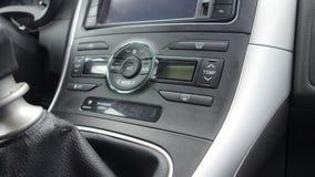 Cluj Napoca/Romania - June 20, 2017: Big coloured display navigation GPS unit Toyota Auris, temperature dash command buttons royalty free stock photos