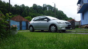 Cluj Napoca/Romania-June 19, 2017: Toyota Auris Hatchback Executive - year 2012, Facelift executive equipment, Silver metallic Royalty Free Stock Photography