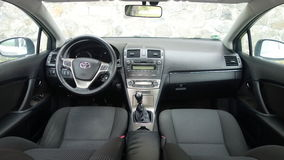 Cluj Napoca/Romania - May 09, 2017: Toyota Avensis- year 2010, Full option equipment, photo session, premium cockpit interior, Stock Photos