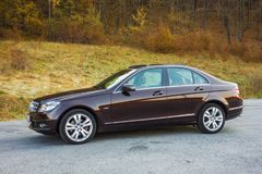 German luxurious limousine - great colour, big panoramic sunroof hatch. Cluj Napoca/Romania - Octomber 20, 2017: Mercedes Benz W204- year 2011, Avantgarde Royalty Free Stock Images