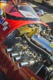 Cluj-Napoca, Romania - 24 September 2016 Klausenburg Retro Racing - Stanguellini Formula Junior racing car 4 stroke engine detail. Stanguellini Formula Junior stock images